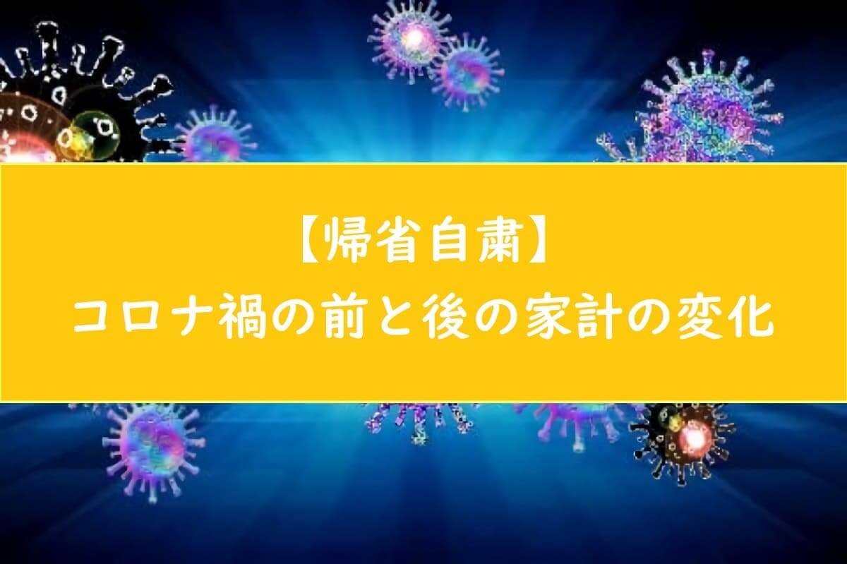 【27万円支出減】帰省自粛!コロナ禍前と後の家計変化