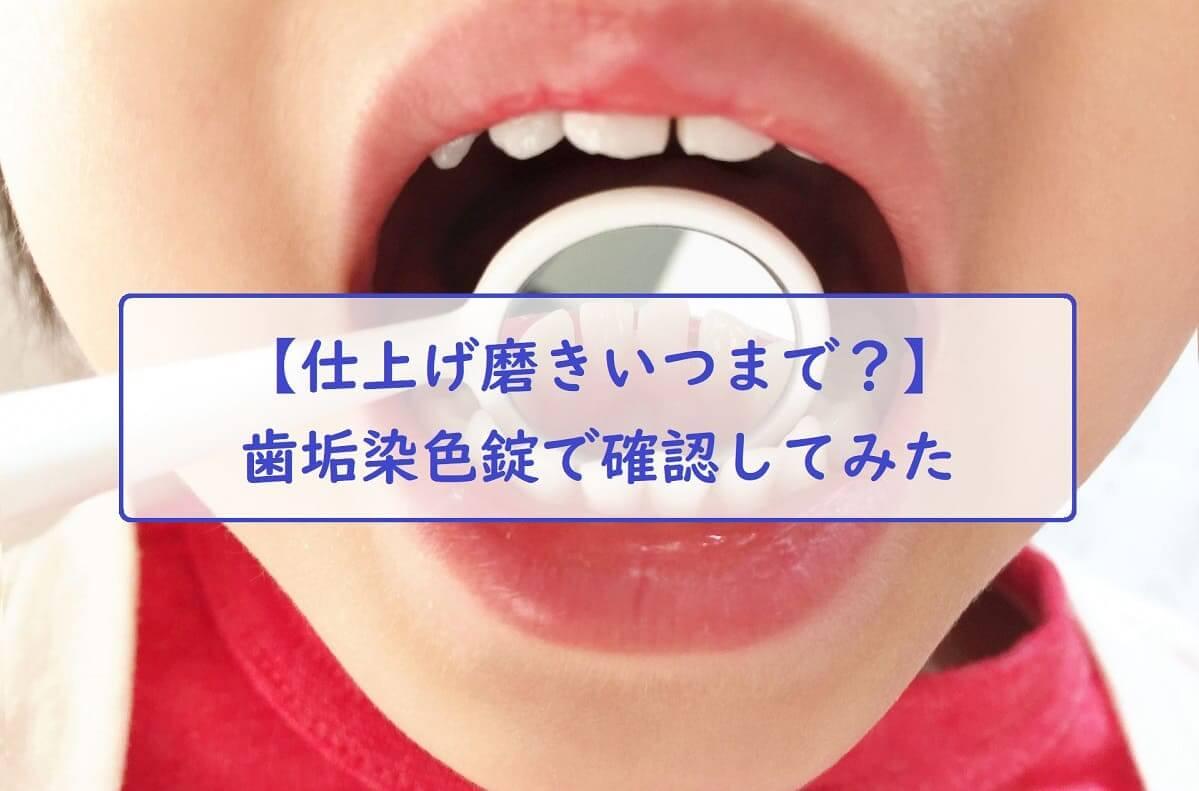 【仕上げ磨きいつまで?】歯垢染色錠で確認してみた